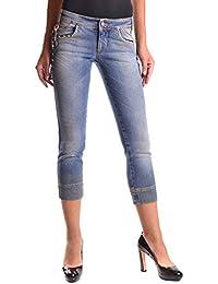 Galliano Damen MCBI130036O Blau Baumwolle Jeans