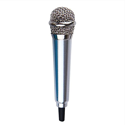 Mini Vocal/Strumento Microfono, Skitic Elegante Handheld Mobile Karaoke Microfono a Condensatore con Clip per iPhone / iPad Samsung Android Laptop Notebook, Registrazione Vocale, Internet in Chat su PC, Tablet, Smartphones - Argento