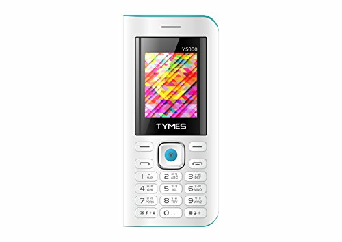 "TYMES Y5000 White Blue (1.77"" Display,5000 MAh Battery,WFM & Digital Camera)"