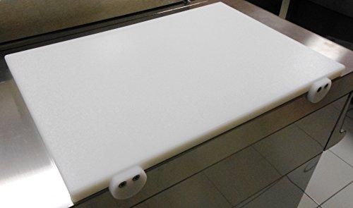 Fimel - Tagliere in polietilene cm 40x30x2 con fermi antiscivolo