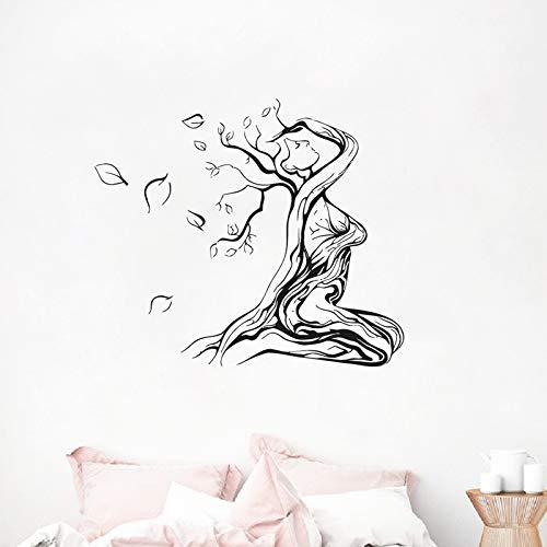 Gebundene Frau Auf Einem Abstrakten Baum Des Lebens Wandtattoo Für Magische Köpfe, Mystic Collection Wand Geschenkideen Aufkleber Fantasie Dunkelgrau 66x56 cm (Viking Irland)