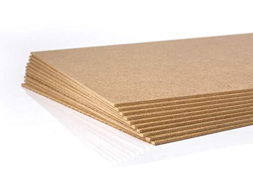 IrishTech MDF-Platten, Dekorplatte,10 Stück Quadratisch 60x60 cm,Reliefhöhe2,5 mm -