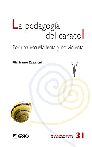 La pedagogia del caracol (MICRO-MACRO REFERENCIAS) por Gianfranco Zavalloni