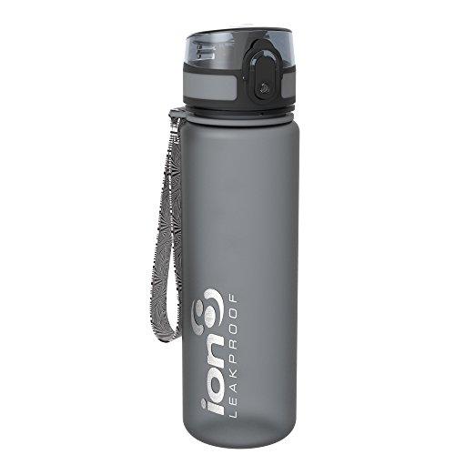 Ion8 auslaufsichere Schlanke Wasserflasche/Trinkflasche, BPA-Frei, 500ml/18oz