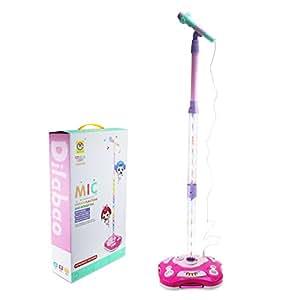 Shayson Kit per bambini Karaoke Bambino Principessa regolabile portatile Stand Up Kit altoparlante con microfono per bambini Girl(Regalo della festa della mamma)