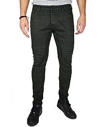 Modern Munkies Herren Jeans Denim Hose Slim Fit Biker Jeans Ripped Stretch  Camouflage 3050 c056954f6b