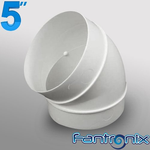 5 125mm Plastic Ducting and Fittings (Round 45 Degree Bend) by Fantronix