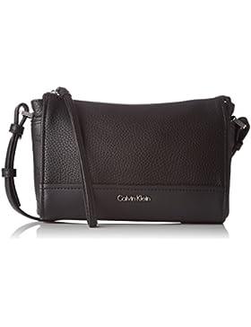 Calvin Klein Damen MARIN4 CROSSBODY CLUTCH Umhängetasche Schwarz (BLACK )