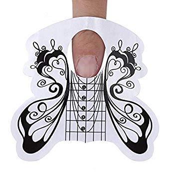 100pcs Nagel-Verlängerungs-Spitzen-Form-Führer-Aufkleber, ovales Nagel-Form-Maniküre-Kleber-Werkzeug für Acryl-UVverlängerungs-Nagel-Gel-Spitzen(#6) -