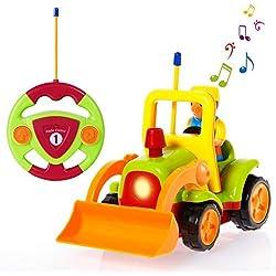 SGILE Coches Teledirigidos con Música y Luces, Radio Control Remoto Coches RC, Tren de Teledirigido Niños, Coches de Rastreador Teledirigidos para Bebés Niños de 18 Meses+