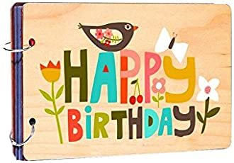 Studio Shubham Happy Birthday Wooden Photo Album(26cmx16cmx4cm)