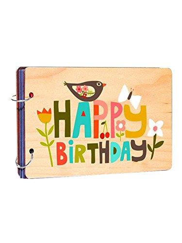 Studio Shubham Happy Birthday Wooden Photo Album(26cmx16cmx4cm)