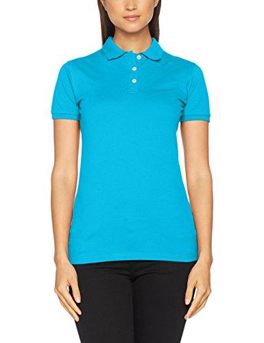 CliQue Damen Poloshirt Premium Polo Shirt Türkis