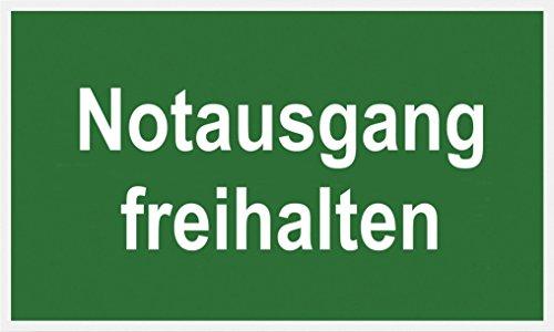 """Metafranc Hinweisschild """"Notausgang freihalten"""" - 250 x 150 mm / Beschilderung / Infoschild / Rettungsweg / Fluchtweg / Notausgang / Sicherheitsmarkierung / Gewerbekennzeichnung / 500130"""