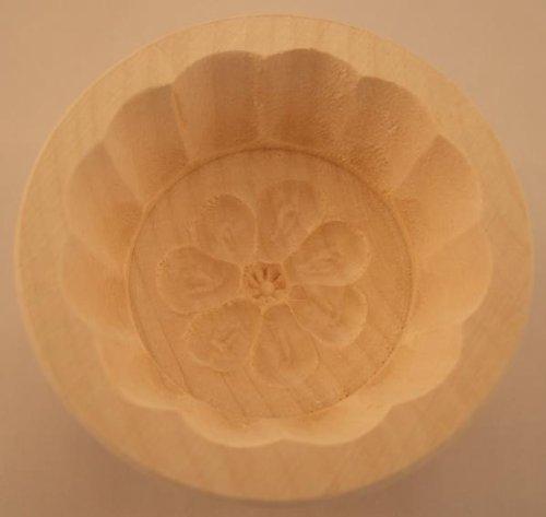 Hofmeister Holzwaren Butterform, rund, 30 Gramm, Rosette, aus Ahorn-Holz