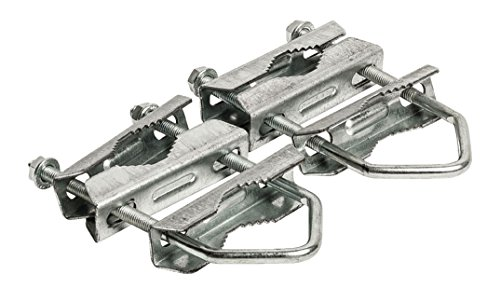 Eurosell TV SAT Cuenco mástil soporte 40-60mm-Abrazadera para mástil abrazadera para mástil doble Pinza doble doble abrazadera