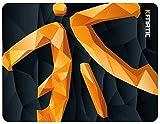Fnatic Focus 2 Poly Logo Gaming E-Sports Mauspad (Größe M - 380x290x3mm) wasserabweisend mit rutschfester Unterseite, weiche Stoffoberfläche für Computer, PC, Laptop, Medium