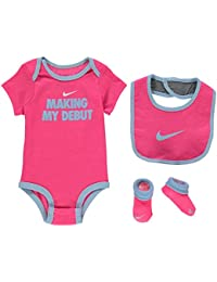 Nike Baby Girl Bodysuit Beanie Booties 0-6 Months Romper Hat Sock Set Girls One-pieces