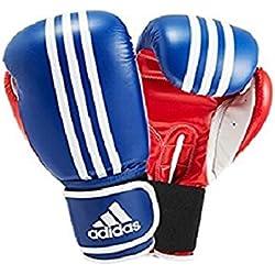 Adidas Boxhandschuhe Response 3C - Guantes de boxeo para combate, Blanco/Azul/Rojo, 10 oz