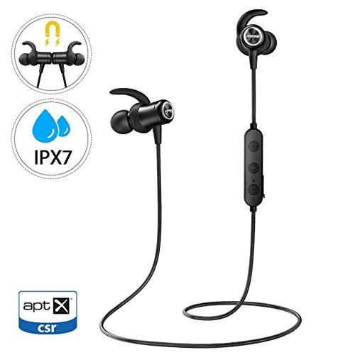Mpow Ecouteur Bluetooth 5.0,IPX7 Etanche,Son Stéréo atpX HD,Ecouteur Bluetooth Magnétique,9H Lecture,Ecouteur sans Fil Jogging/Course,Ecouteur Bluetooth Sport Intra-auriculaire pour IPhone Android