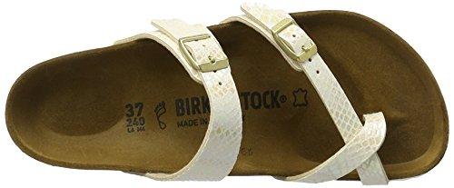 Birkenstock - Mayari Birko-flor, Infradito Donna Beige (Shiny Snake Cream)