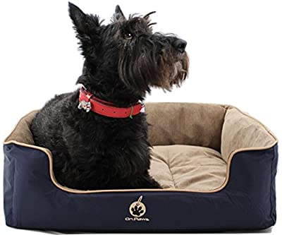 On Paws® 'Sleep Well Lounger' Premium Quality Pet Bed, Dog bed (5 Sizes & Choice of Colours available) DuPontTM Teflon® Protected, Machine washable, Detachable Covers