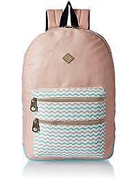 HOOM Synthetic Peach School Backpack (HMSOSB 010-HM(Peach))