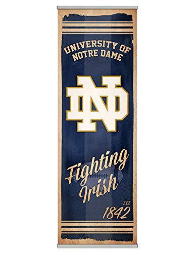Leinwandbild, Motiv NCAA Fanpanel Modern 72 Inches Wide by 24 Inches Tall Notre Dame Fighting Irish
