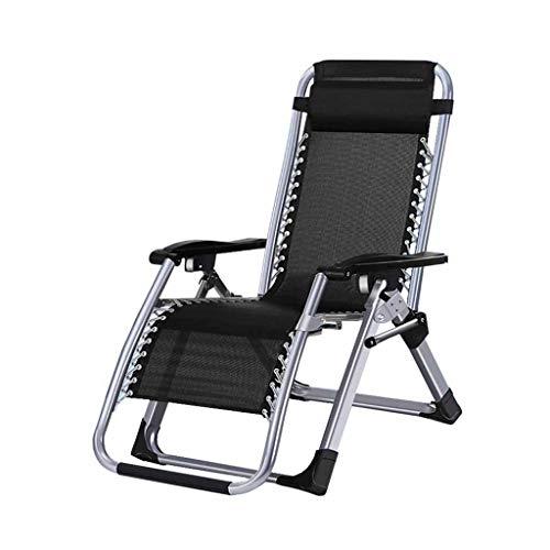 Pliante Textilene Chaise Inclinable Chaise De Jardin Chaise Longue Plage Pont Réglable Zéro Gravité Portable Portable Noir