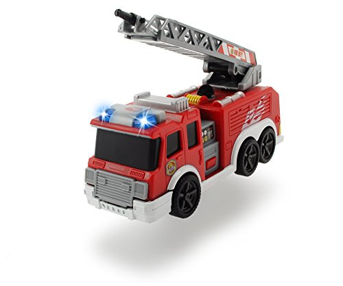 feuerwehrauto Dickie Toys 203302002 - Action Series Fire Truck, Feuerwehrauto inklusive Batterien, 15 cm