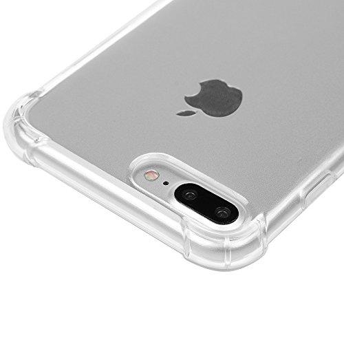 iphone 7 Plus Case,Badalink TPU Case Silikon Hülle für iphone 7 Plus FederLeicht Hülle Gummi Bumper Cover Schutz Schale Siliconcase Silikon Tasche Schutzhülle für iphone 7 Plus mit Transparent Design Transparent