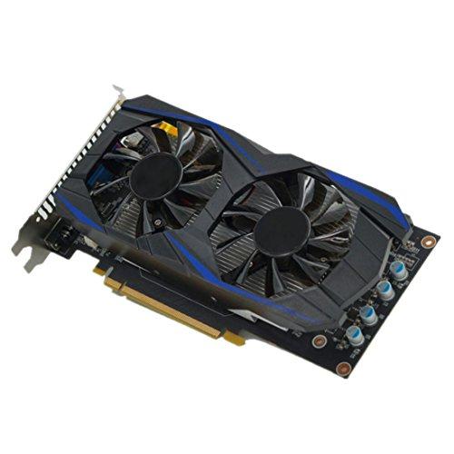 Hunpta@ Grafikkarte, GTX750TI 2 GB GDDR5 192bit VGA DVI HDMI Grafikkarte mit Lüfter für NVIDIA GeForce (Schwarz) (Nvidia Geforce Gtx750ti)