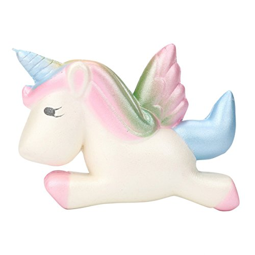 er zusammendrückbarer Toy Einhorn langsam Rising Squeeze Party Dekoration Relax Dekompression Toys Fun lindert Stress Geburtstag Geschenk, PU, F, 11.5*9.4cm (Halloween Schule-party-essen)