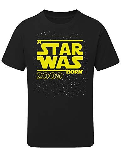 tar was Born 10 Jahre - Junge - T-Shirt für Jungen - Geschenk-Idee zm 10. Geburtstag - Jungen - Jahrgang 2009 - Zehn-TER - Lustig - Witzig - Kind - Kinder - Schwarz - Gelb (164) ()