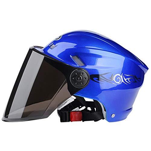 Ecloud Shop® Visor Flip up Modularer Halbhelm mit Sonnenschutz Elektroautohelm, Fahrradhelm