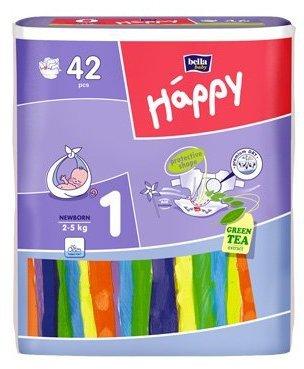 Bella Baby Happy pannolini taglia 1newborn Premium Dry tè verde Estratto 42pcs