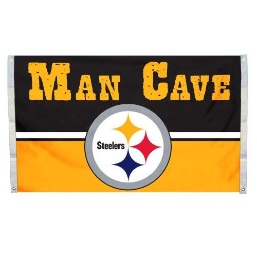 Fremont Die NFL Pittsburgh Steelers Man Cave Flagge mit 4Tüllen, 3x Geschenkpapierrolle 150cm