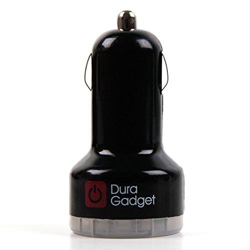 DURAGADGET Für Garmin inReach SE+ / inReach Explorer+ Outdoor-Navigationsgeräte mit Satellitenkommunikation: Ladestecker zum Aufladen über Ihren Auto-Zigarettenanzünder (mit 2 USB-Ausgängen)