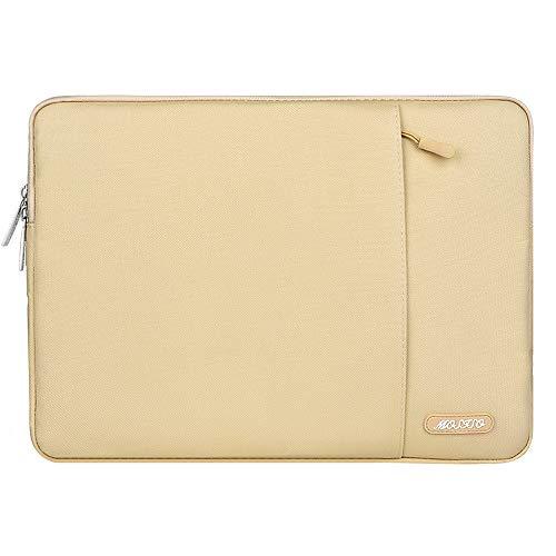 MOSISO Laptophülle Kompatibel 13-13,3 Zoll MacBook Air, MacBook Pro, Notebook Computer, Polyester Wasserabweisend Vertikale Stil Sleeve Hülle Schutzhülle Laptoptasche Notebooktasche, Kamel