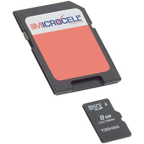 Microcell Micro SD-SD - Tarjeta microSD de 8 GB [Importado]