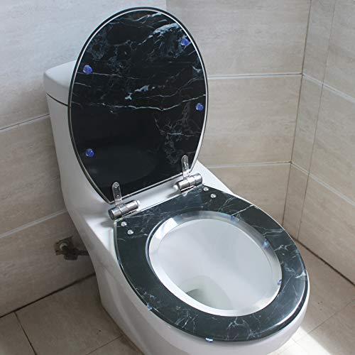 Sièges De Toilette, Type U-V-O Universel SièGe Toilette avec Siège De Toilette Plus épais en Résine Antibactérienne avec Deux Kits D'adaptation,K
