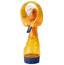 Yellow : Culater New Portable Summer Mini Handheld Spray Fan With Bottle Water Mist (Yellow)