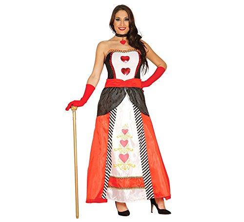 Prinzessin der Herzen Spielkarte Kostüm für Damen Karneval Dame Fasching Herz Gr. M/L, Größe:L (Prinzessin Der Herzen Kostüm)