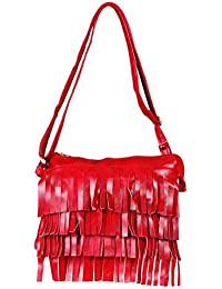 15121: Howdy Women Leather Handbags (Red)