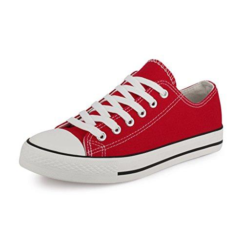 best-boots Damen Turnschuh Sneaker Slipper Rot 1364 Größe 40 (Besten Turnschuhe Frauen Der)