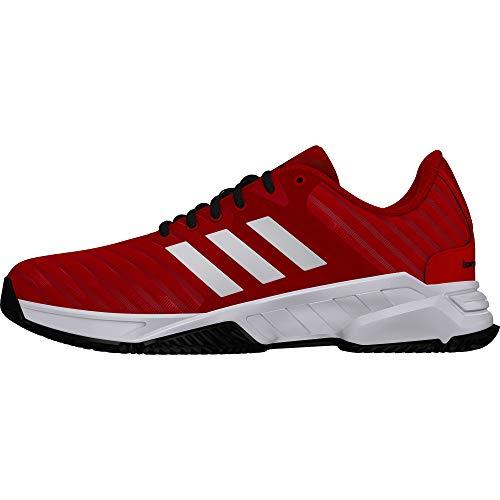 adidas Barricade Court 3, Scarpe da Tennis Uomo, Rosso Scarle/Ftwwht/Cblack, 42 2/3 EU