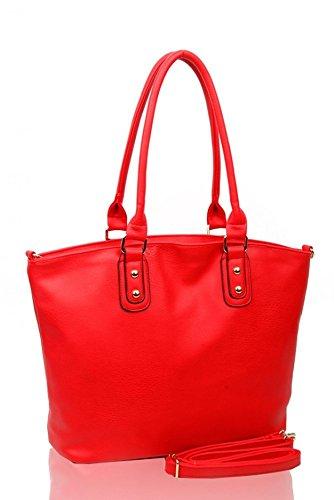 LeahWard® Damen Mode Essener Qualität Kunstleder Schultertaschen Modisch Tote Kreuzkörper Handtasche CWRF140161 CWRL150512 Braun