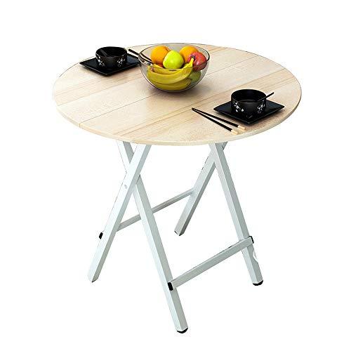 YL HOME-Klapptisch, Computertisch, runder Haushaltstisch, Wohntisch, Größe 70x75cm A++ (Farbe : Maple Leaf Color)