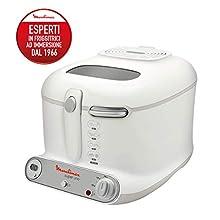 Moulinex AM302130 Super Uno Friggitrice con Filtro Anti-Odore, Fino a 190°, 1.800 watt, Capacità fino a 1.5 Kg