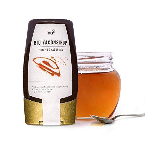 nu3 Premium Bio Yacon-Sirup im Squeezer – mit angenehmer Süße bei niedrigem glykämischen Index in der praktischen Dosierflasche